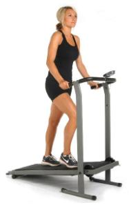 A manual treadmill good health