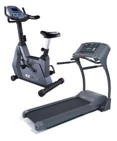 Bike and treadmill exercise equipments