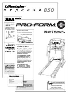 lifestyler treadmill manual proform treadmill repair manuals