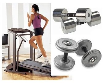 Dumbbell exercise treadmill weight loss discount treadmill